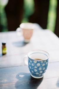 旅先の朝のコーヒー。